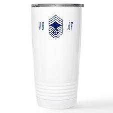 USAFChiefMasterSergeantBlueCap. Travel Mug