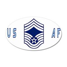 USAFChiefMasterSergeantBlueC 35x21 Oval Wall Decal