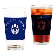 USAFChiefMasterSergeantClock.gif Drinking Glass
