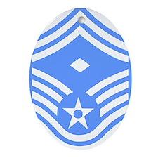 USAFFirstSergeantE8ForBlueMeshCap.gi Oval Ornament