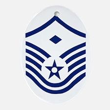 USAFFirstSergeantE7BlueStripes.gif Oval Ornament