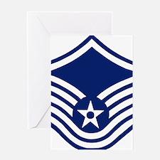 USAFMasterSergeantForCaps.gif Greeting Card