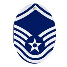 USAFMasterSergeantForCaps.gif Oval Ornament