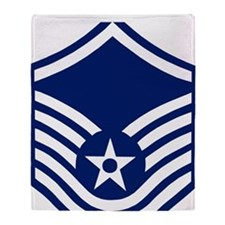 USAFMasterSergeantForCaps.gif Throw Blanket
