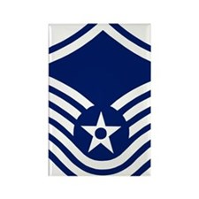 USAFMasterSergeantForCaps.gif Rectangle Magnet