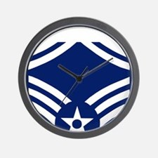 USAFMasterSergeantForCaps.gif Wall Clock