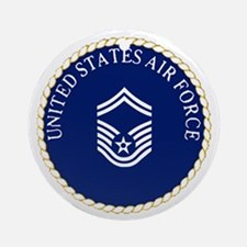USAFSeniorMasterSergeantCapCrest.gi Round Ornament