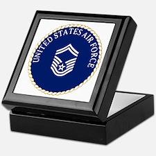 USAFSeniorMasterSergeantCapCrest.gif Keepsake Box