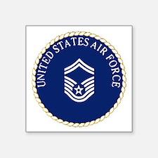 """USAFSeniorMasterSergeantCap Square Sticker 3"""" x 3"""""""