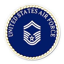 USAFSeniorMasterSergeantCapCrest. Round Car Magnet