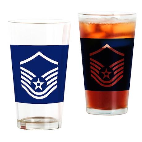 USAFMasterSergeantCoaster.gif Drinking Glass