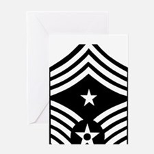 USAFCommandChiefMasterSergeantBlackM Greeting Card