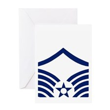USAFMasterSergeantBlueStripes.gif Greeting Card
