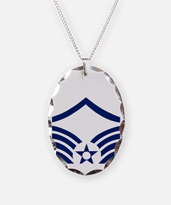 USAFMasterSergeantBlueStripes. Necklace