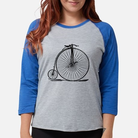 Vintage Penny Farthing Bicycle Womens Baseball Tee