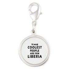 The Coolest Liberia Designs Silver Round Charm