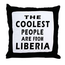 The Coolest Liberia Designs Throw Pillow
