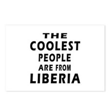The Coolest Liberia Designs Postcards (Package of