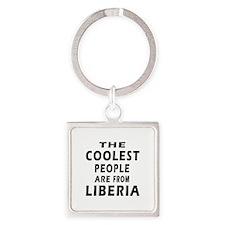 The Coolest Liberia Designs Square Keychain