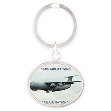 ANGTenn164thAirliftCalendar.gif Oval Keychain