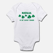Natalia is my lucky charm Infant Bodysuit