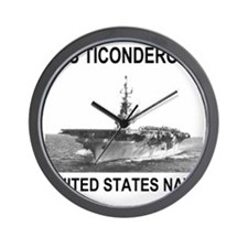 USSTiconderogaTeeShirt.gif Wall Clock