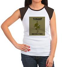 USMC1stBn4thMarinesMous Women's Cap Sleeve T-Shirt
