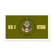 ArmyWWIIBlackCap.gif          Rectangle Car Magnet