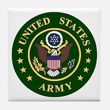 ArmyLogoToMatchStripes2.gif Tile Coaster