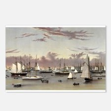 The yacht squadron at Newport - 1872 Postcards (Pa