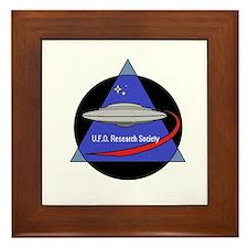 UFO Research Society Logo Framed Tile