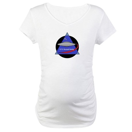 UFO Research Society Logo Maternity T-Shirt