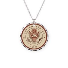 ArmyLogoKhakiBonnieX.gif Necklace Circle Charm