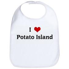 I Love Potato Island Bib