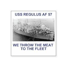 "USSRegulusTeeshirt1.gif Square Sticker 3"" x 3"""