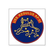 "USSRegulusPatchBonnieX.gif Square Sticker 3"" x 3"""