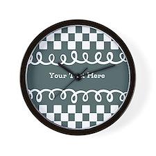 Custom Text Decorative Checkered Wall Clock
