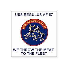 "USSRegulusTeeshirt2X.gif Square Sticker 3"" x 3"""