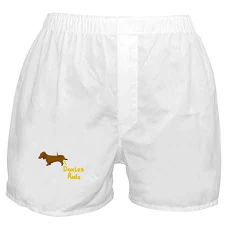 Dachshund Peeing Doxies Rule Boxer Shorts