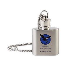 NavyArmedGuardSticker.gif Flask Necklace