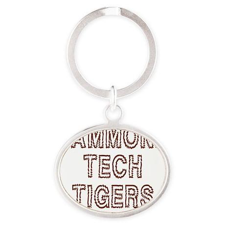TechYellowShirt3.gif Oval Keychain