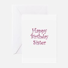 Happy Birthday Sister Greeting Cards (Pk of 10