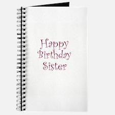 Happy Birthday Sister Journal