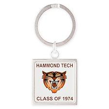 Tech1974Teeshirt2.gif Square Keychain