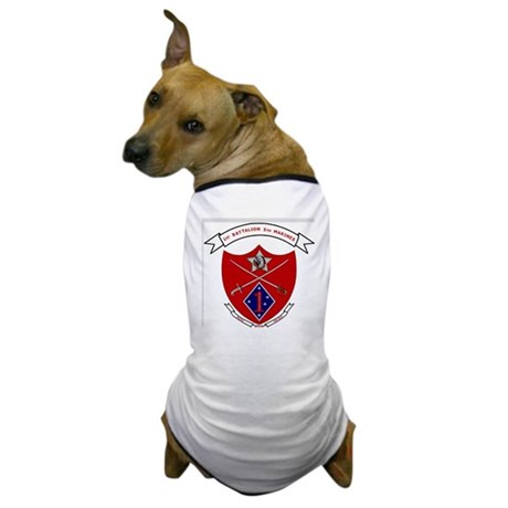 USMC1stBn5thMarinesLogoBonnieYellowShi Dog T-Shirt