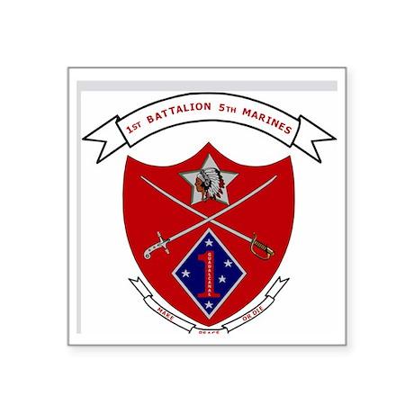 "USMC1stBn5thMarinesLogoBonn Square Sticker 3"" x 3"""