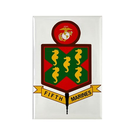 USMC5thMarineRegimentBonnie.gif Rectangle Magnet