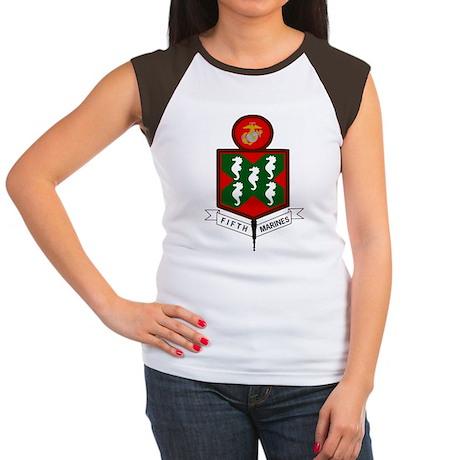 USMC5thMarineRegimentBo Women's Cap Sleeve T-Shirt
