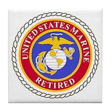 USMCRetiredSealBonnieBlueAndRedX.gif Tile Coaster