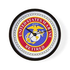 USMCRetiredSealBonnieBlueAndRedX.gif Wall Clock
